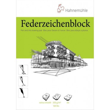 Kalligraafiaplokk FEDER 250 g/m² A4 10 lehte - Valge