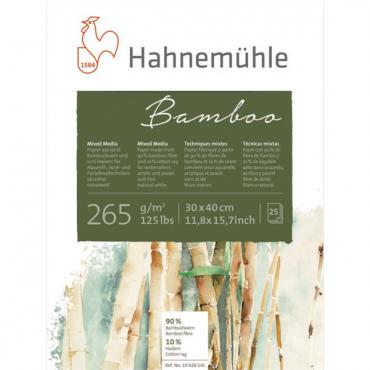 Universaalplokk BAMBOO 265 g/m² 30 x 40 cm 25 lehte - Loodusvalge