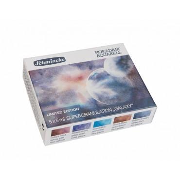 Akvarellvärvi komplekt HORADAM 5 x 5 ml - Galaxy (galaktika)
