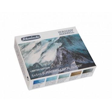 Akvarellvärvi komplekt HORADAM 5 x 5 ml - Glacier (liustik)