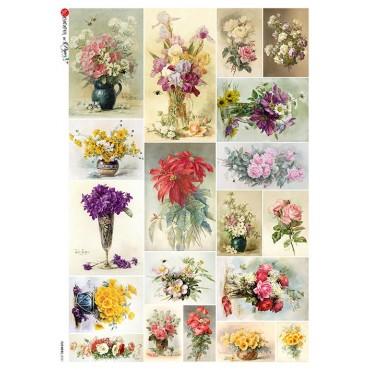 Dekupaažipaber 22 x 32 cm - FLOWERS_0321