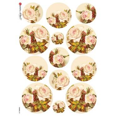 Dekupaažipaber 22 x 32 cm - FLOWERS_0297