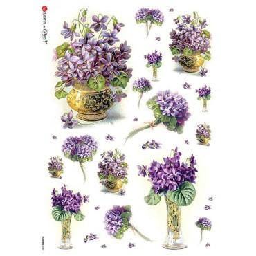 Dekupaažipaber 22 x 32 cm - FLOWERS_0287