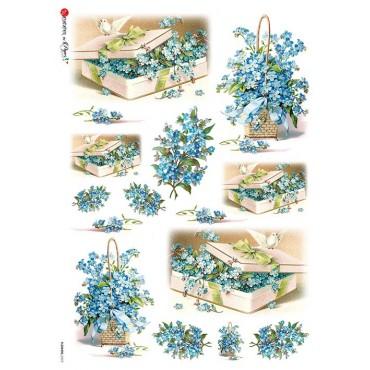 Dekupaažipaber 22 x 32 cm - FLOWERS_0273
