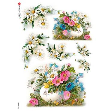 Dekupaažipaber 22 x 32 cm - FLOWERS_0272