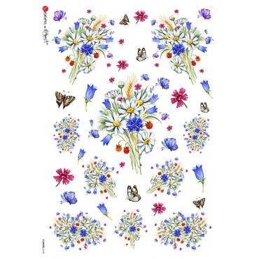 Dekupaažipaber 22 x 32 cm - FLOWERS_0169