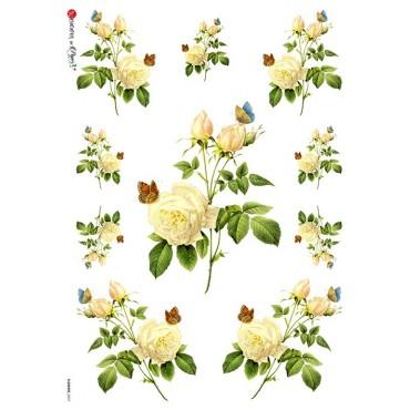 Dekupaažipaber 22 x 32 cm - FLOWERS_0037