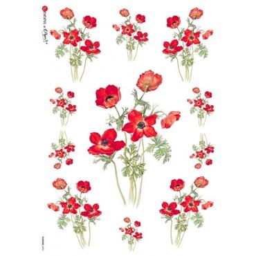 Dekupaažipaber 22 x 32 cm - FLOWERS_0035