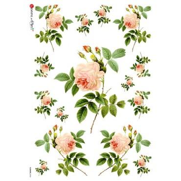 Dekupaažipaber 22 x 32 cm - FLOWERS_0034