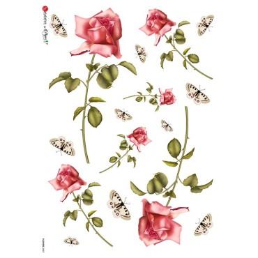 Dekupaažipaber 22 x 32 cm - FLOWERS_0007