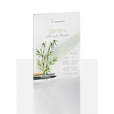 Visandiplokk BAMBOO-MIXED MEDIA 265 g/m² 24 x 32 cm 25 lehte - Loodusvalge
