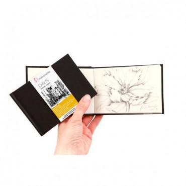 Visandiraamat D&S 140 g/m² 12,5 x 9,0 cm 60 lehte valge landscape - Must