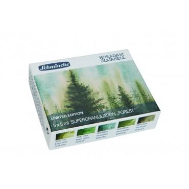 Akvarellvärvi komplekt HORADAM 5 x 5 ml - Forest (mets)