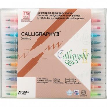 Viltpliiats CALLIGRAPHY II 2,0 / 3,5 mm komplekt 12 tk