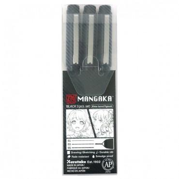 Tindipliiats MANGAKA 01/03/05 komplekt 3 tk - Must