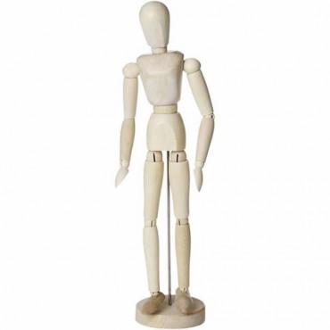 Liigendnukk  puidust 30 cm - Naine