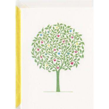 Kaart ja ümbrik BOHEMIA 2-poolne A6 - Roheline puu