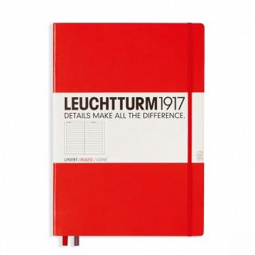 Märkmik MASTER 100 g/m²  22,5 x 31,5 cm 233 joonelist lehte - Punane