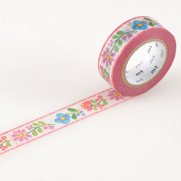 Washi teip 15 mm x 10 m - Embroidery