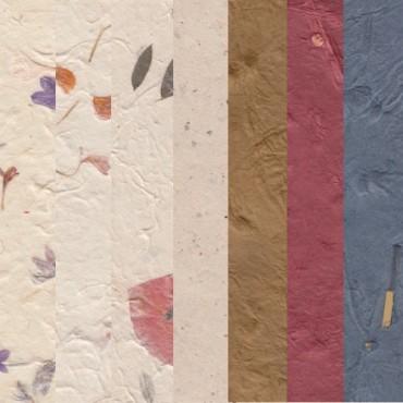 Nepaali paber DEKO 120 g/m² 21 x 29,7 cm (A4) 5 lehte - ERINEVAD MUSTRID