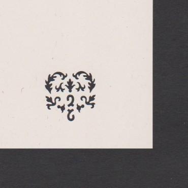 Mustriraud MOTIIV 25 mm - Südamekujuline lilleornament
