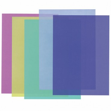Läbipaistev paber 115 g/m² 21 x 29,7 cm (A4) 10 lehte - ERINEVAD TOONID