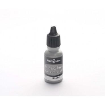 Templivärv metallik MICA GLOSS 14 ml - Hõbe