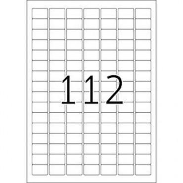 Etiketid VÄIKE FORMAAT 5 lehte - 25,4 x 16,9 mm - 112 tk lehel