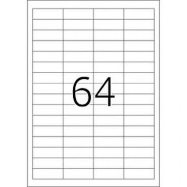 Etiketid BÜROO 10 lehte - 48,3 x 16,9 mm - 64 tk lehel