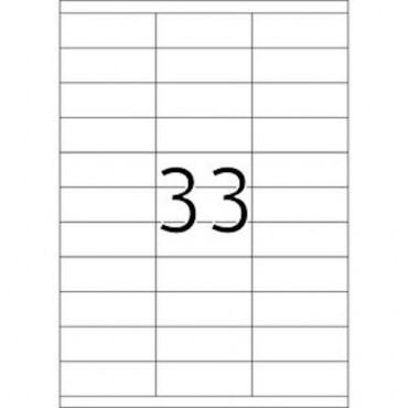 Etiketid BÜROO 10 lehte - 70,0 x 25,4 mm - 33 tk lehel