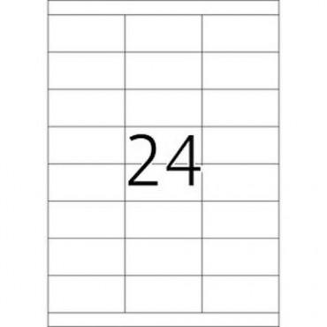 Etiketid BÜROO 10 lehte - 70,0 x 33,8 mm - 24 tk lehel