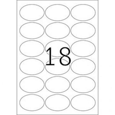 Etiketid EEMALDATAV 5 lehte - 63,5 x 42,3 mm - 18 tk lehel