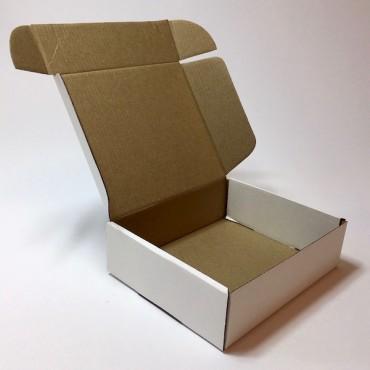 Pakend KLAPPIDEGA PL 14 x 16 x 5 cm - Pruun/valge