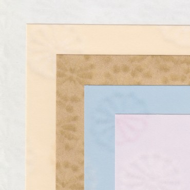 Jaapani paber KIKU 90 g/m² 21 x 29,7 cm (A4) 5 lehte - ERINEVAD TOONID