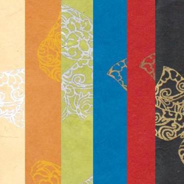 Nepaali paber LIBLIKAD 60 g/m² 21 x 29,7 cm (A4) 5 lehte - ERINEVAD MUSTRID