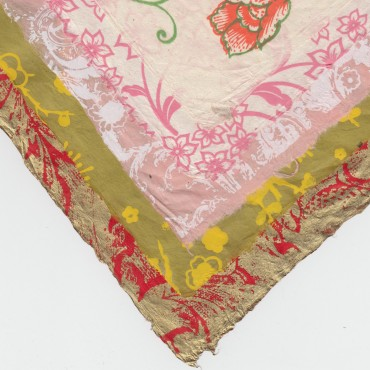 Nepaali paber LILLED 60 g/m² 21 x 29,7 cm (A4) 5 lehte - ERINEVAD MUSTRID