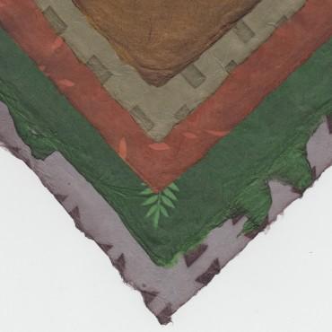 Nepaali paber SOLAR 60 g/m² 21 x 29,7 cm (A4) 5 lehte - ERINEVAD MUSTRID