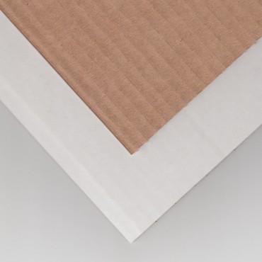 Lainepapp P/V 3 mm 100 x 170 cm - pruun/valge