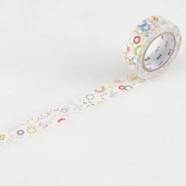 Washi teip 15 mm x 10 m - Colorful POP