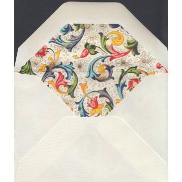 Ümbrik ROSSI voodriga 7 x 10 cm 100 tk. - Florentine style