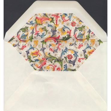 Ümbrik ROSSI voodriga 12 x 18 cm 100 tk. - Florentine style