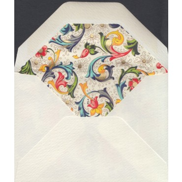 Ümbrik ROSSI voodriga 7 x 10 cm 10 tk. - Florentine style