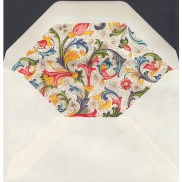 Ümbrik ROSSI voodriga 9 x 14 cm 10 tk. - Florentine style