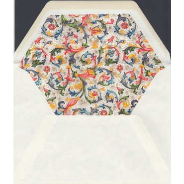Ümbrik ROSSI voodriga 16 x 21,3 cm 10 tk. - Florentine style