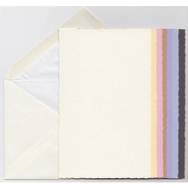 Ümbrik ja kaart 10 x 16 cm 5 tk - ERINEVAD TOONID
