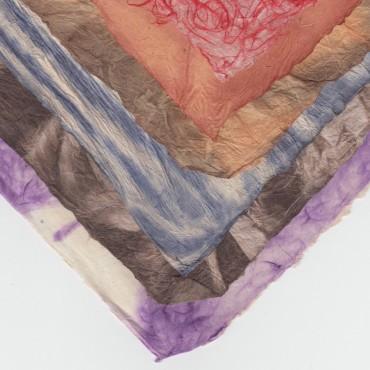 Nepaali paber TEKSTUUR 60 g/m² 21 x 29,7cm (A4) 5 lehte - ERINEVAD MUSTRID