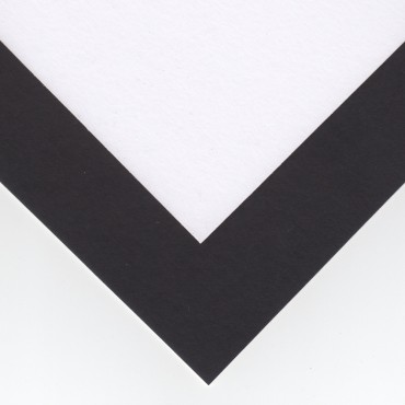 Aluspapp COLOUR 1,25 mm 30 x 30 cm - Must/valge