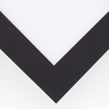 Aluspapp COLOUR 1,25 mm 25 x 25 cm - Must/valge