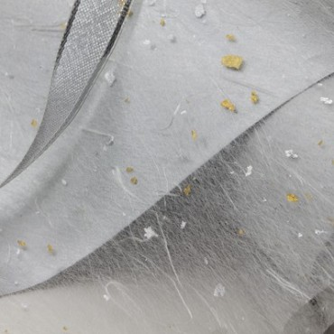 Jaapani paber GOLD FLECK TISSUE 17 g/m² 53 x 78cm - Valge/kuldne