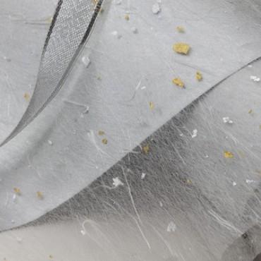 Jaapani paber GOLD FLECK TISSUE 17 g/m² 21 x 29,7 cm (A4) 10 lehte - Valge/kuldne